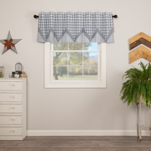 Sawyer Mill Blue Valance Layered 20x72
