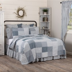 Sawyer Mill Blue Twin Farmhouse Quilt 68Wx86L