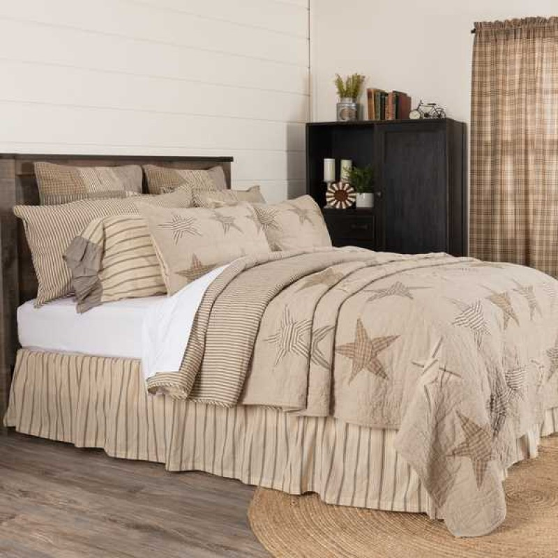 Sawyer Mill Star Charcoal California King Size Quilt