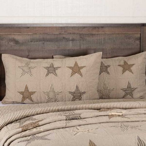 Sawyer Mill Star Charcoal King Size Pillow Sham