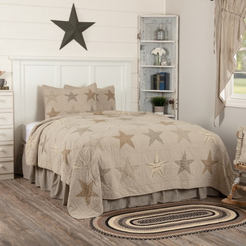 Sawyer Mill Star Charcoal King Quilt Set