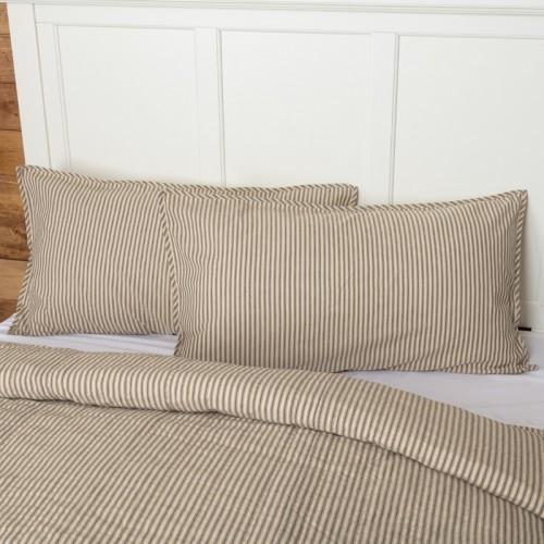 Sawyer Mill Charcoal Ticking Stripe King Sham 21x37