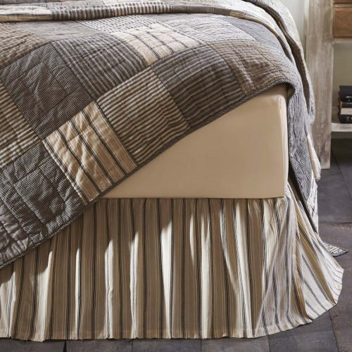 Sawyer Mill Charcoal Farmhouse Bed Skirt - King 78x80x16
