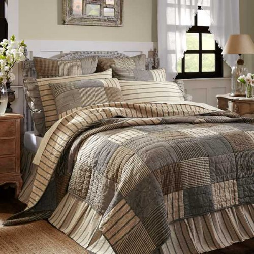 Sawyer Mill Bedding - Charcoal California King Quilt Set