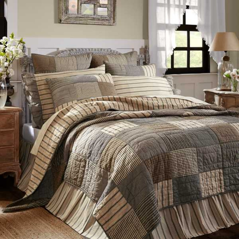 Sawyer Mill Charcoal California King Quilt Countryvintagehome