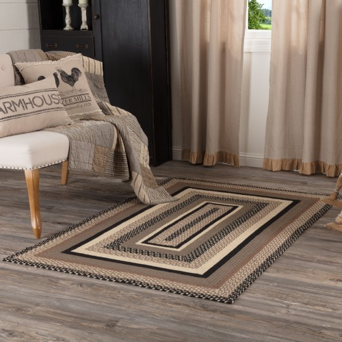 Sawyer Mill Charcoal Jute Rug Rect 48x72