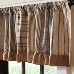 Sawyer Mill Charcoal Patchwork Valance Curtain 19x90