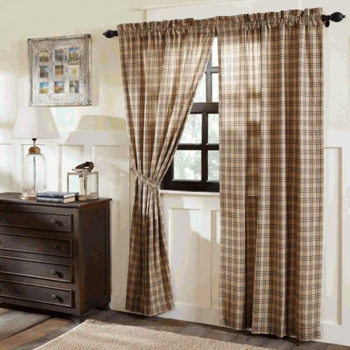 Sawyer Mill Charcoal Plaid Curtain Panel Set of 2 84x40