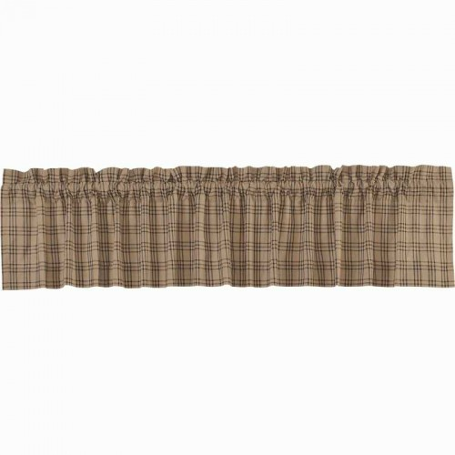 Sawyer Mill Charcoal Plaid Valance Curtain 16x90