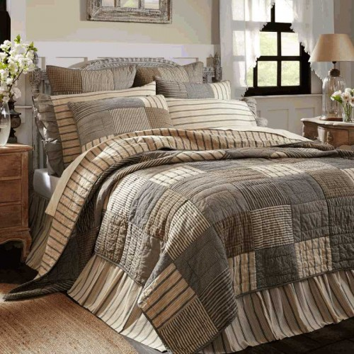 Sawyer Mill Quilt - Charcoal Luxury King