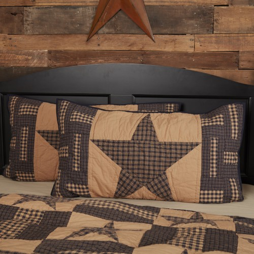 Teton Star King Rustic Pillow Sham 21x37