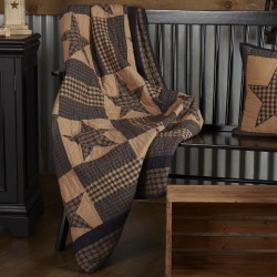Teton Star Quilted Rustic Throw 60x50