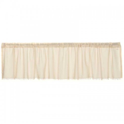 Tobacco Cloth Natural Valance Curtain Fringed 16x72