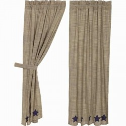 Vincent Scalloped Lined Short Panel Curtains