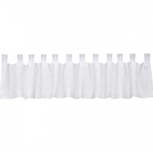 Willow White Tab Top Valance Curtain 16x90