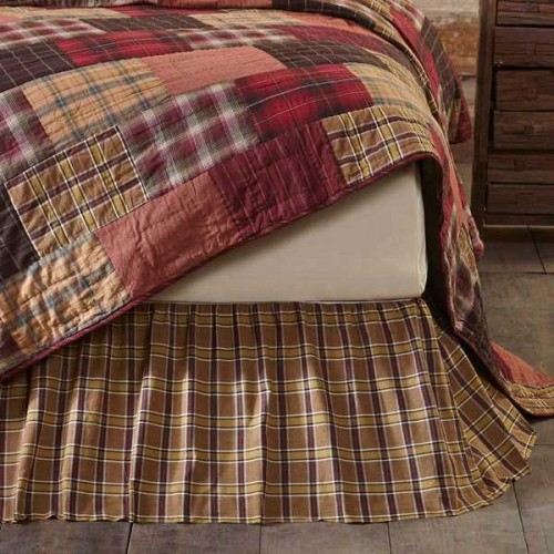 Wyatt King Rustic Bed Skirt