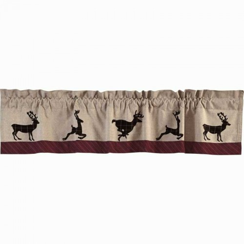 Wyatt Deer Valance Curtain 16x90