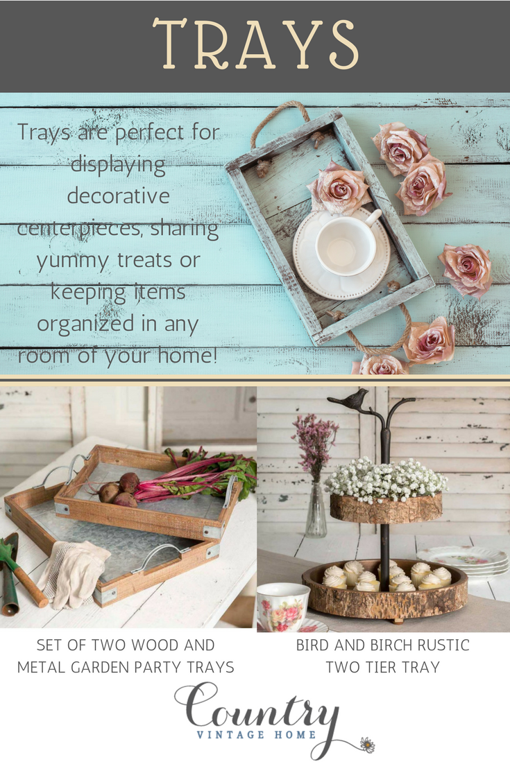 Decorating Ideas Using Baskets, Trays and Caddies I Country Vintage ...